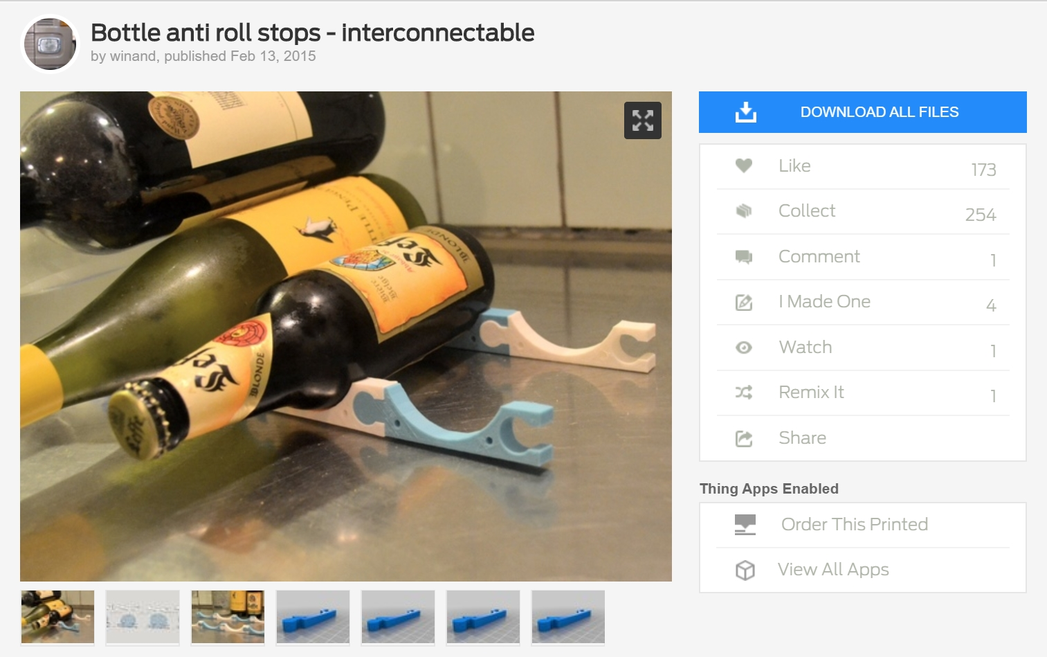 Refrigerator Beer Bottle Holders - Functional 3D Printing #1