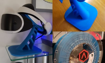 PSVR 3D Printed Stand in Emvio Cool Blue