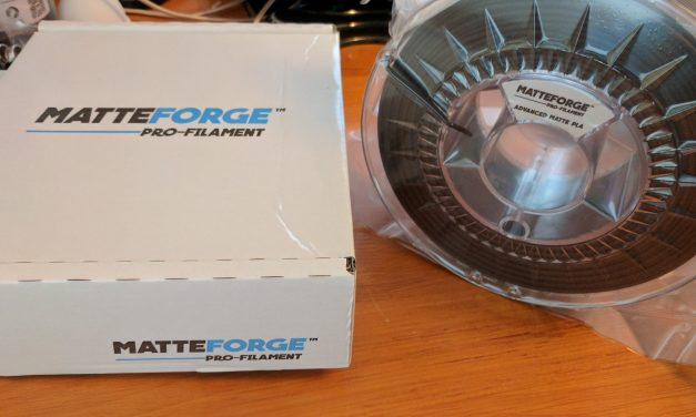 Matteforge PLA – Matt Black – 2.85 – Review